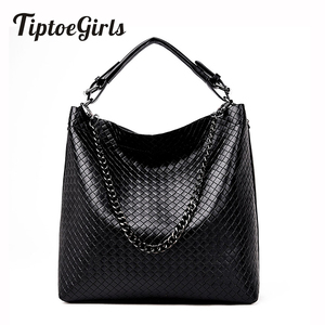Image 1 - Woven Bucket Handbag Europe and the United States New Fashion Wild Casual Temperament Shoulder Messenger Messenger Tide