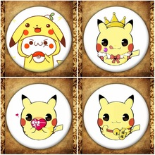 Anime Pokemon GO Badge Japanese Cartoon Ash's Squirtle Pikachu Charmander Metal Brooches Pin Bag Clothes Accessories Decoration pokemon exquisite souvenir metal pin emblem badge high quality pokemon go games kids clothing decoration badges
