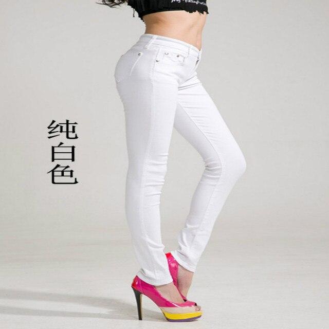 2018 Fashion Spring Autumn Jeans Candy Color Slim Thin Pants Female Pencil Pants Women Trousers  Demin Pants For Women Plus Size