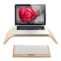 SAMDI Wooden Elevator Desktop Stand Computer Monitor Height With Keyboard Stand For IMac PC Notebook Laptop