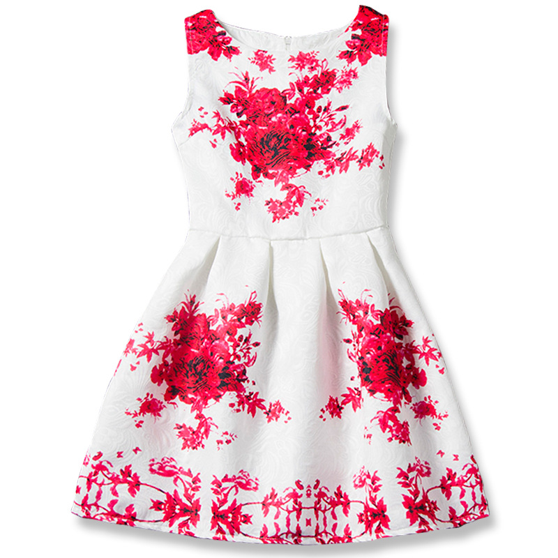 Cartoon Castle Summer Sleeveless Girls Print Dress Knee Length Princess A-Line Dress Clothes For Kids 6 to 12 years Old Kids realflame электрический камин old castle