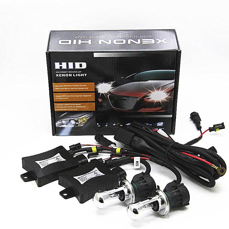 55W H4 HID xenon KIT car headlight DC 12V H4 Hi Lo Bixenon light kit 4300K