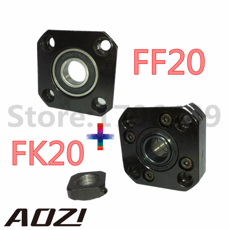 1pc FK20 Fixed Side +1 pc FF20 Floated Side for XYZ CNC parts FK/FF20 Support For Ball Screw 2505 Set fk25 ff25 support for ball screw 3205 set 1 pc fk25 fixed side 1 pc ff25 floated side for xyz cnc parts