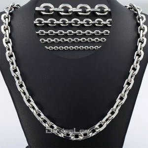 Davieslee Stainless Steel Silver Men's Chain Jewelry
