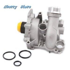 Image 1 - NEW 06H 121 026 DD Aluminum Water Pump Upgrade For Audi A4 A6 Q3 Q5 VW Passat Golf Jetta Tiguan Seat Skoda 2.0TFSI 06H121026CQ