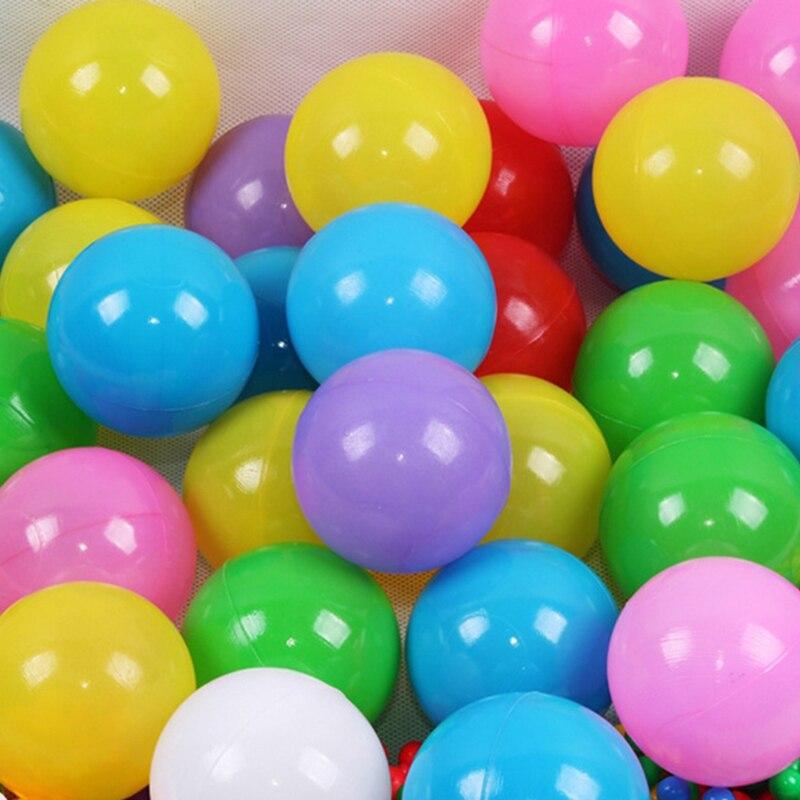 100 шт./лот 5,5 см красочные мягкие Пластик воды в бассейне океана мячей дети на открытом воздухе игрушки волна мяч для воздушный шар веселый сп...