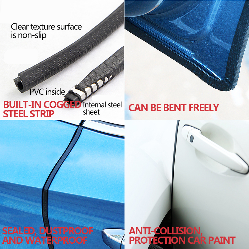 Image 2 - 10m Car Door Edge Protector Strip Auto Sealing Door Guard Trim Automobiles 5m Weatherstrip Stickers Universal Car Accessories-in Car Stickers from Automobiles & Motorcycles