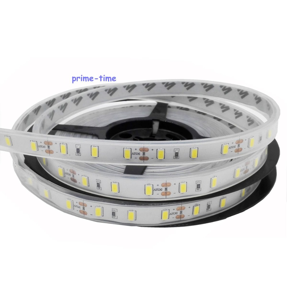 5M 5630 4500K Nature White LED Strip 300LED Silicone Tube IP67 Waterproof Flexible Light DC12V 60LED/m Free Shipping