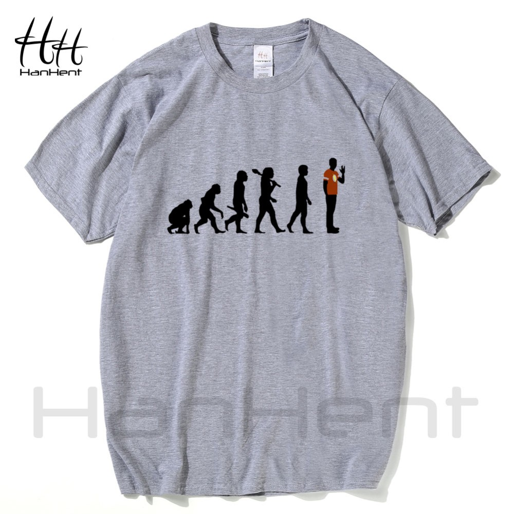 HanHent The Big Bang Theory T-shirts Men Funny Cotton Short Sleeve O-neck Tshirts Fashion Summer Style Fitness Brand T shirts 16