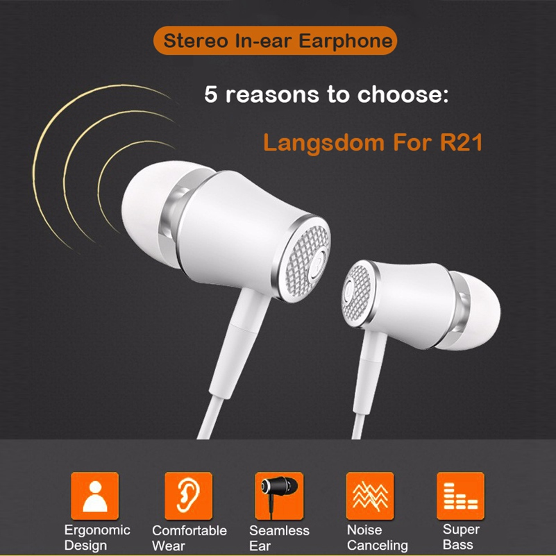 Icoque Sport In-Ear Earphone Wired Stereo Bass Headphones with Mic for iPhone 5 Samsung Xiaomi Computer PC MP3 Earpods Earphones
