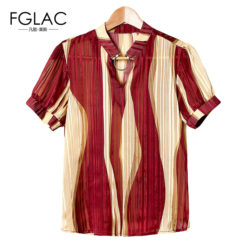 FGLAC mujer blusas shirt New Arrivals 2017 Moda Casual gasa blusas Elegante Floj