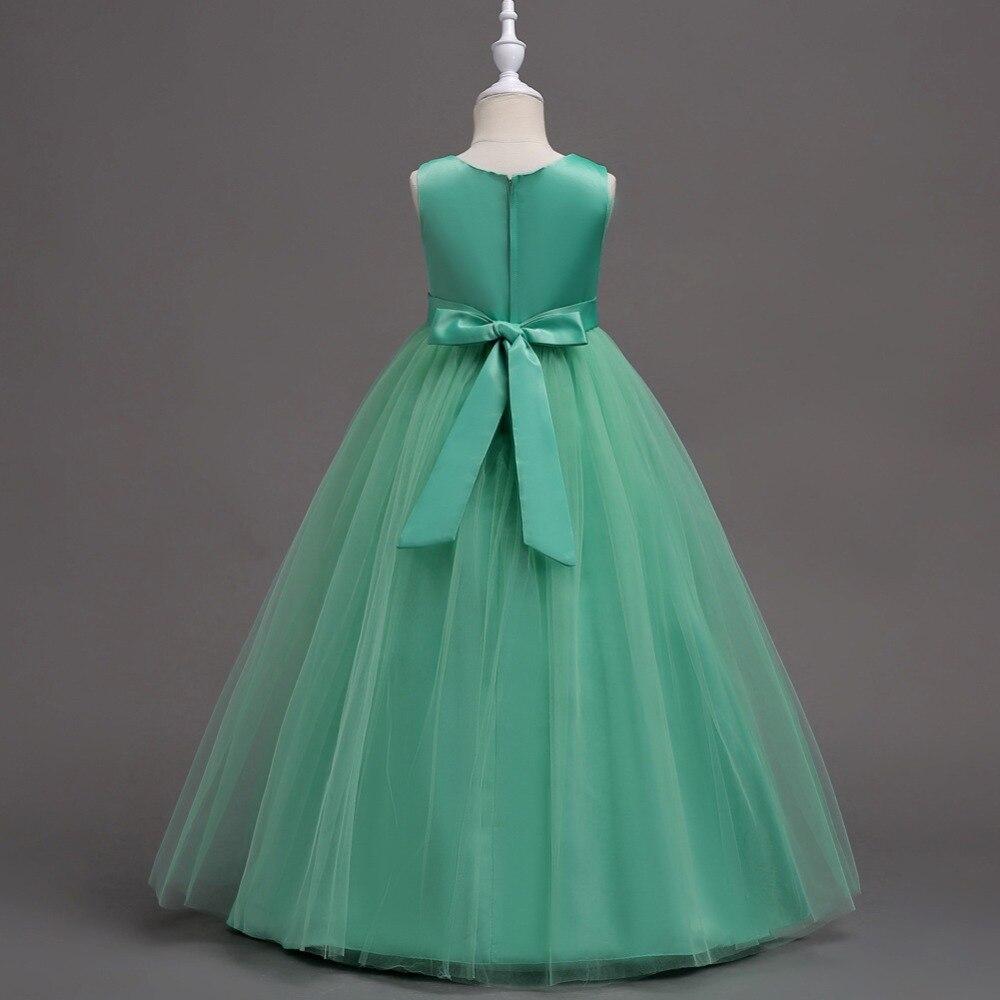 Chaffare meisjes lange jurken formele bruiloft feestjurk Kinderen - Kinderkleding - Foto 4