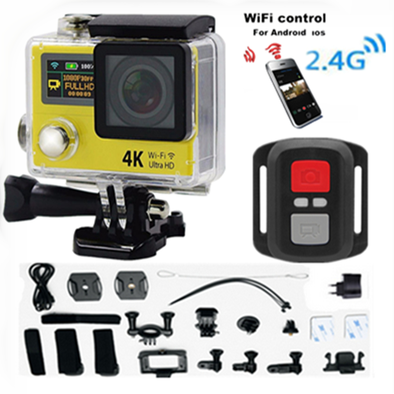 "Original sport camera H3R Ultra  4K HD 2.0"" Dual Screen display Action Camera Waterproof 30m DV 6G 170D Lens go - pro Style cam"