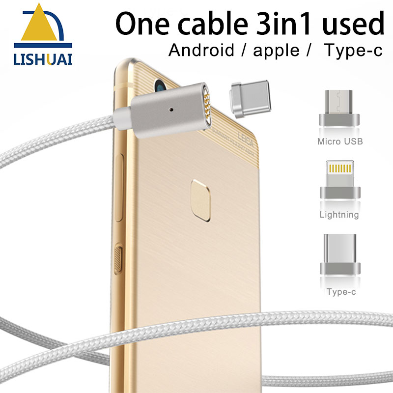 Micro USB magnetic cable charger nylon Braided rope for iPhone 6 6s 7 for xiaomi for Samsung for type-cfast charging cable micro usb port magnetic adapter charger for android micro usb charging flex cable for smart phone
