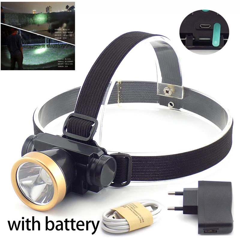 High Powerful LED Headlamp USB Rechargeable Battery Head Lamp Torch Frontal Flashlight Linterna Light Headlight For Fishing