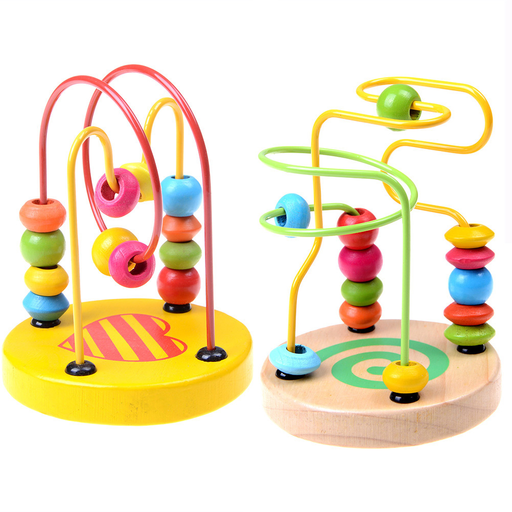 colorful wooden toy mini changeable insect baby wrist flexibility training 1pc