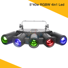 New Light Individual LED Control 5*40w RGBW 4in1 Color 5 Finger Led Beam Disco  DJ Wedding Stage Effect