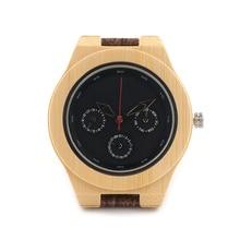 BOBO BIRD H28 Mens Wooden Watch With Luxury  Japan 2035 Movement Quartz Bamboo Wristwatch Unique Design Dial Face Men Relogio