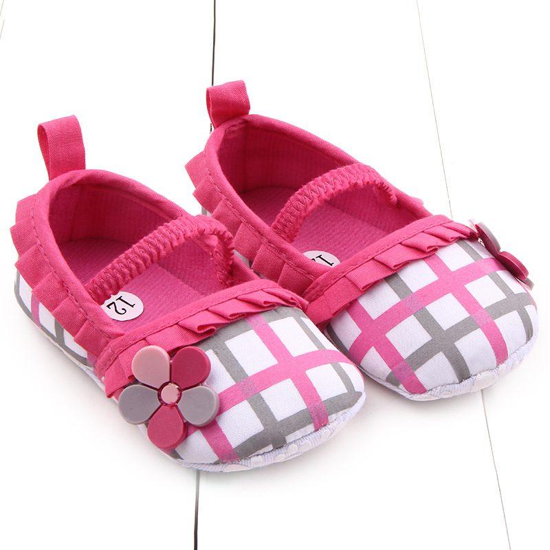 lovely brand newborn plaid baby girl shoes toddler loafers casual flower infant kids princess. Black Bedroom Furniture Sets. Home Design Ideas