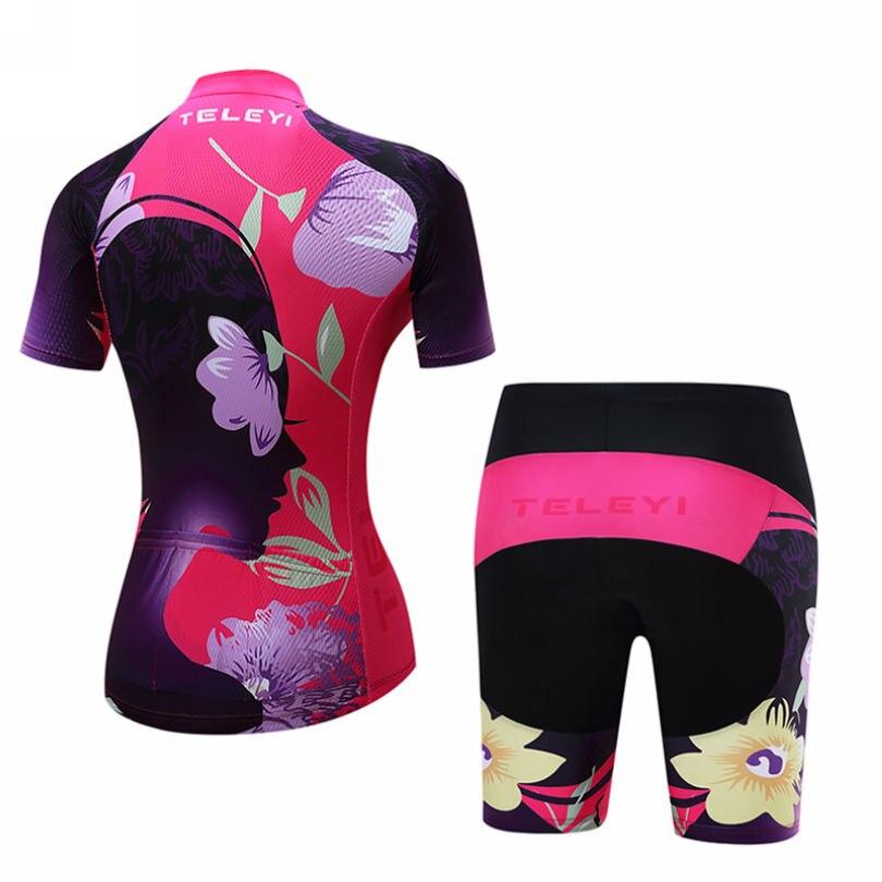 Onwijs TELEYI Team Ropa Ciclismo vrouwen Cyclus Jersey Broek Korte Set LR-36