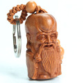 Chinese Traditional Solid Mahogany Carving Car/Bag/Purse Key Ring Pendant Keychain Amulet Pendant All The Best