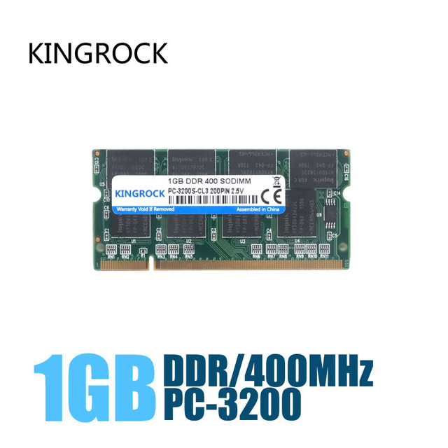 KINGROCK New Sealed DDR 400/ PC 3200 1G Laptop RAM Memory / Lifetime warranty / Free Shipping!!!