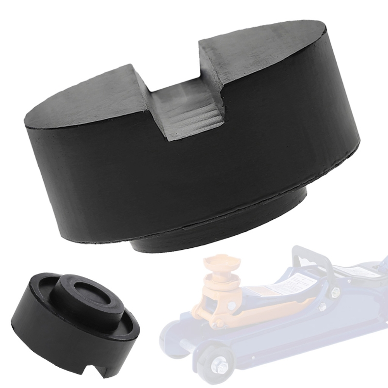 Black Rubber Slotted Floor Jack Pad Frame Rail Adapter For Pinch Weld Side Pad Car Accessories