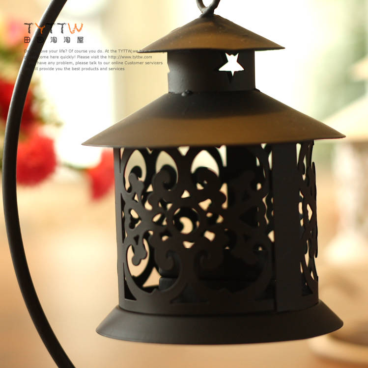 Fashion bird cage wrought iron hanging cutout mousse 1