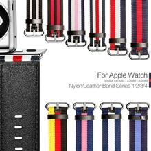 Модные аксессуары с национальным флагом стильный ремешок для Apple Watch 38 мм 42 мм 40 мм 44 мм нейлоновая кожа для iWatch серии 1 2 3 4 ремень браслет ремень