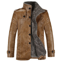 2016 New Brand PU Leather Jacket Men Winter Jackets and Coats Thickening Wool Windbreak Warm Jaquetas Coat 80hfx
