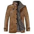 2017 New Brand PU Leather Jacket Men Winter Jackets and Coats Thickening Wool Windbreak Warm Jaquetas Coat 80hfx
