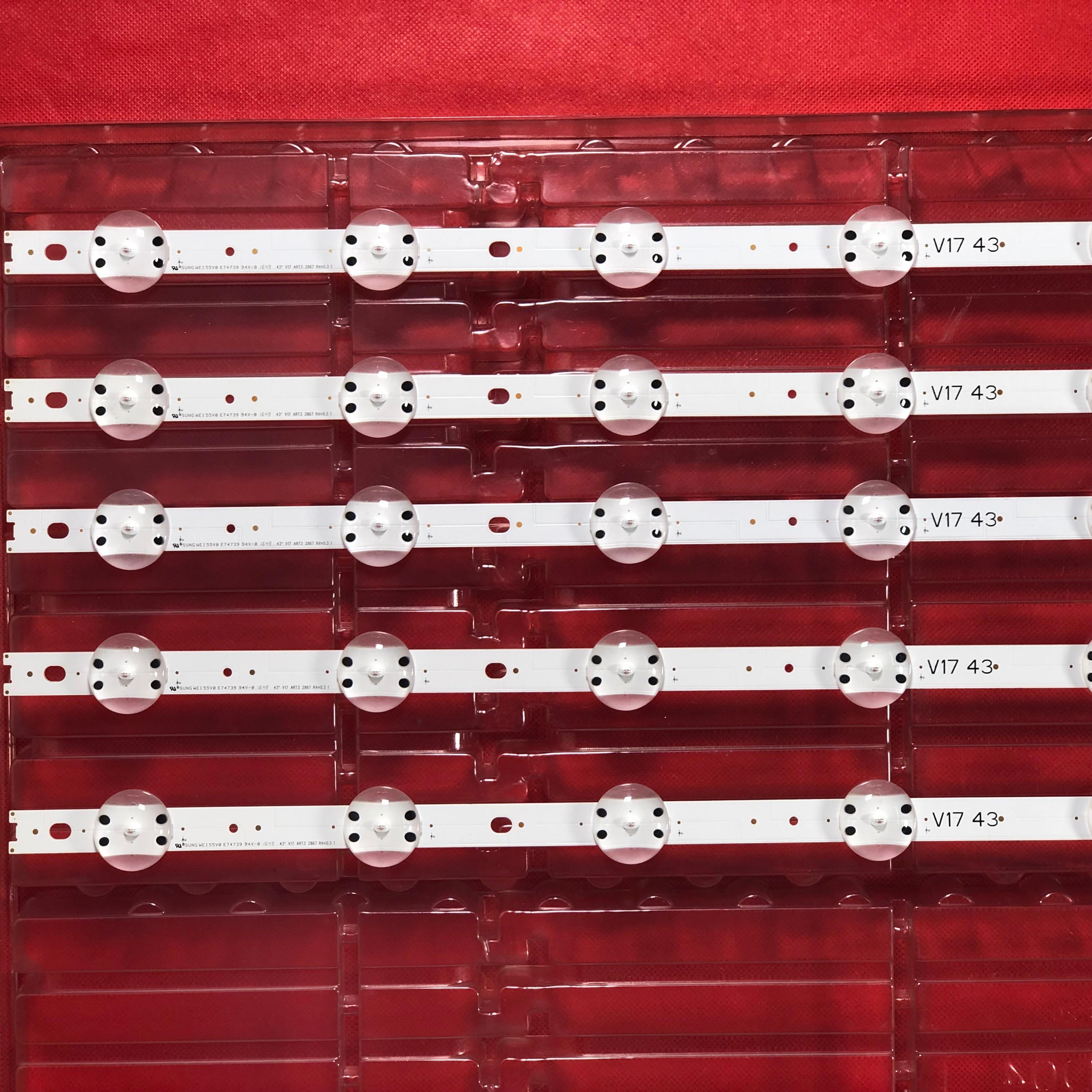 100% New LG 43 Inch LED Backlight Bar 43VH6100-CB 6916L-2867B 6916L-2867A 2867G V17 43 6916L-2744A 6916L-2743A Screen LC430DQE