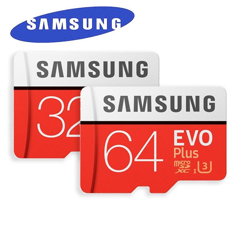 SAMSUNG EVO Plus MicroSD Memory Card 32GB 64GB 128GB 256GB Class10 microSDXC U3 UHS-I TF C