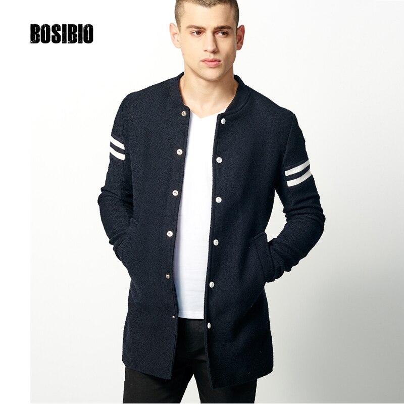 2017 herbst Frühling Lange Trenchcoat Mode Männer Dünne Dunkle blau Mantel Hohe Qualität männer Slim Einreiher Jacke Mantel 9003-in Trench aus Herrenbekleidung bei  Gruppe 2