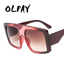 Oversized Square Sunglasses Women Men 2019 Luxury Brand Vintage Sun Glasses Man