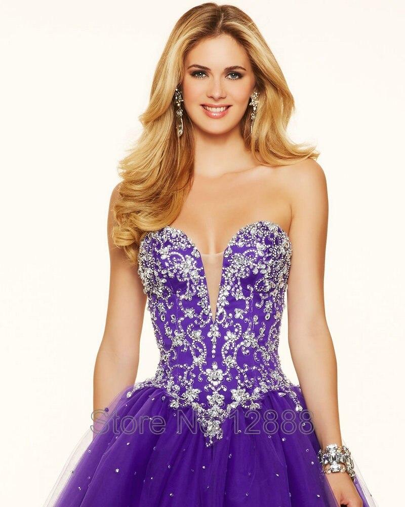 Estilo 98114 Rosa Tóxico Tulle Largo Púrpura Vestidos de Baile ...