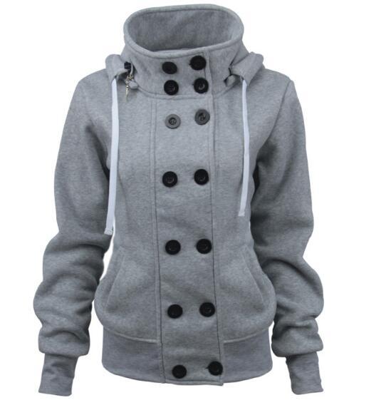 2018 осень и зима Новый Лидер продаж двубортный съемная куртка с капюшоном толстые теплое пальто из хлопка женские