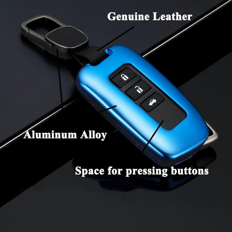 1 pc FUWAYDA housse de clé de voiture en alliage d'aluminium avec ceinture clé Shell sac de rangement protecteur pour Lexus ES NX IS LX GS RX Series ES200