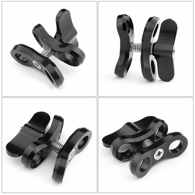 Camera Accessory Diving Lights Ball Butterfly Clip Arm Clamp Mount Aluminum For Gopro Hero 8 7 6 3+/4/5 for DJI EKEN yi Camera 4