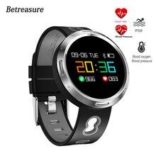 Betreasure X9VO Inteligente Pressão Arterial Pulseira/Banda Alarme Rastreador de Fitness Monitor de Freqüência Cardíaca Do Bluetooth Inteligente Relógio Relógio Inteligente