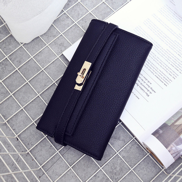 Fashion leather wallet dollar price luxury purses women wallets designer high quality card holder famous brand clutch 2