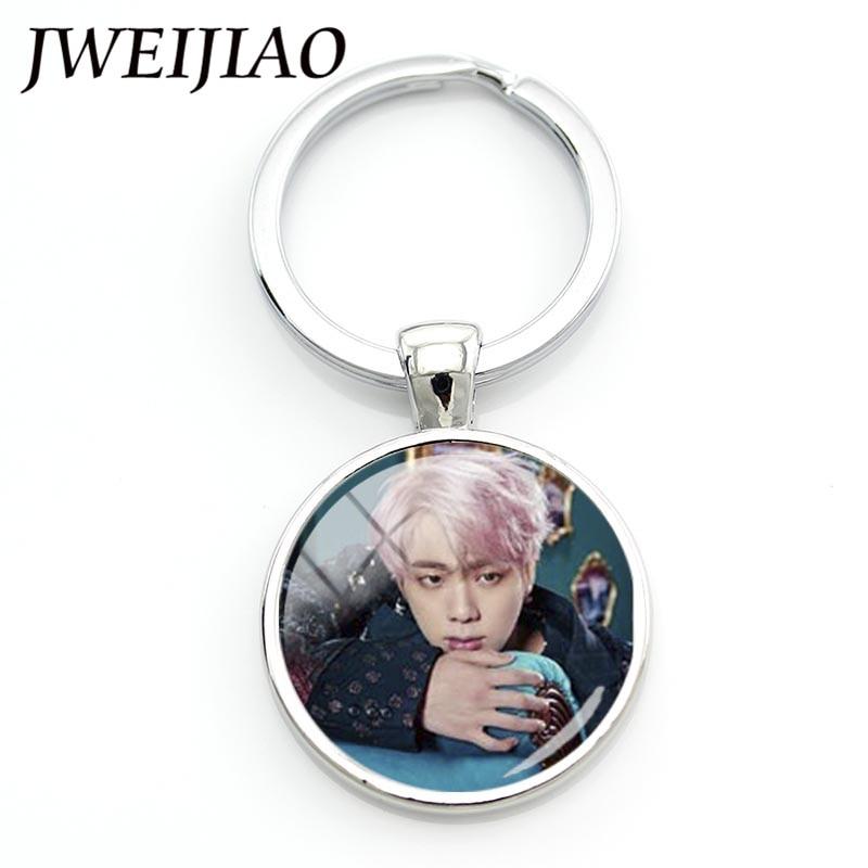 Jweijiao мода Поп БТС bangtan мальчики крылья альбом брелок подвеска брелок персонализированные пользовательские кольцо для ключей BTS72