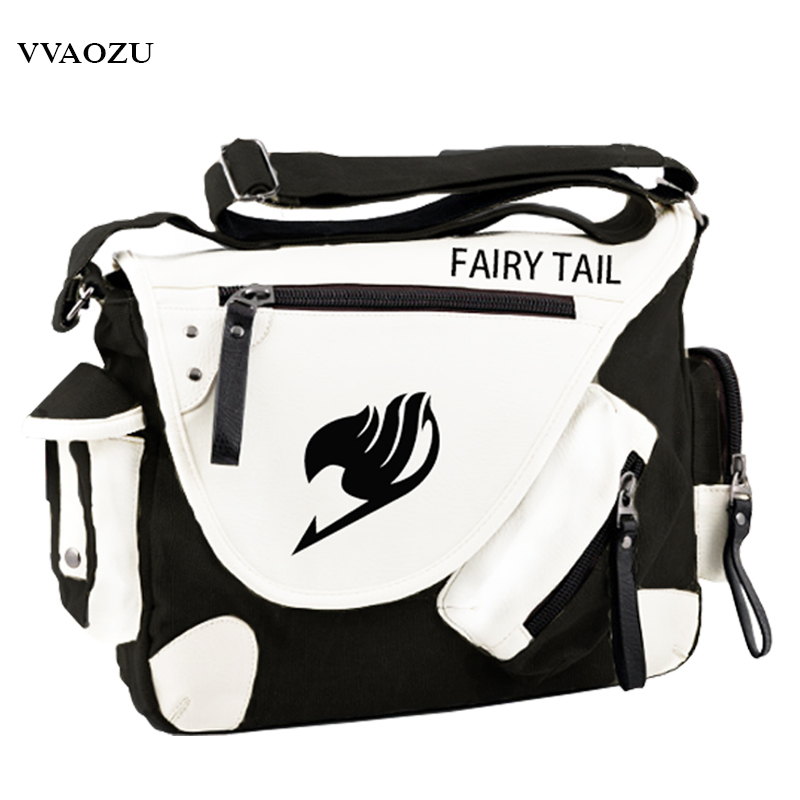 Fashion Japan Style Anime Fairy Tail Messenger Bag Brand New Erza Cosplay Casual Zipper Boys Girls Shoulder Bag sosw fashion anime theme death note cosplay notebook new school large writing journal 20 5cm 14 5cm