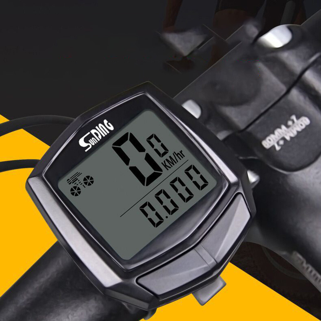 Bike Computer Waterproof Wired Wireless Multifunction Bicycle LCD Computer Speedometer Cycling Odometer Accessories3.31