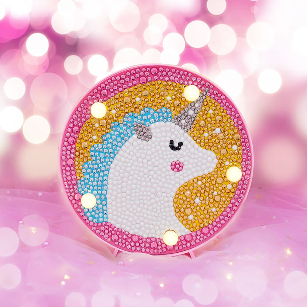Zooya 5d Diamond Painting Disney Led Diamond Embroidery White Pony New Arrival Cartoon Child Sale Mosaic Gift For Childs Birthd Diamond Painting Cross Stitch