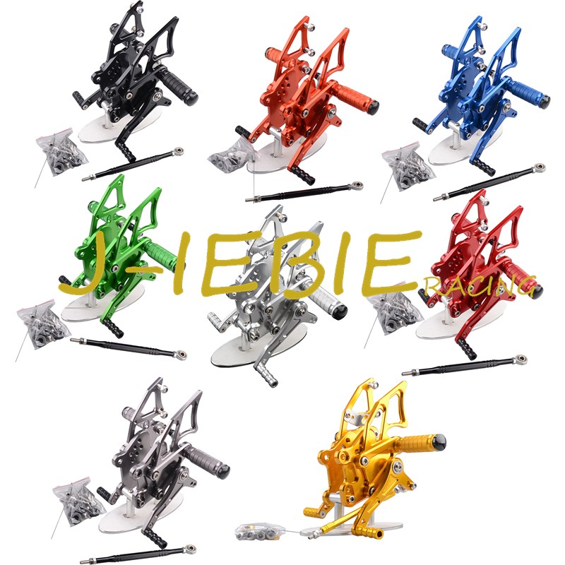 CNC Racing Rearset Adjustable Rear Sets Foot pegs Fit For Yamaha YZF R3 R25 2014 2015 cnc aluminum motorcycle accessories rearset base foot pegs rear for yamaha yamaha yzf r3 yfz r3 mt 03 mt03 mt 03 2015 2016