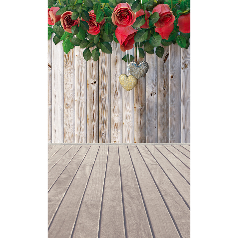 Valentine's Day Vinyl Photography Backdrops Board and rose Customized Computer Printed Background Love valentine 5X8ft F-1944 valentine s day vinyl photography backdrops newborns customized computer printed background love valentine f 2050