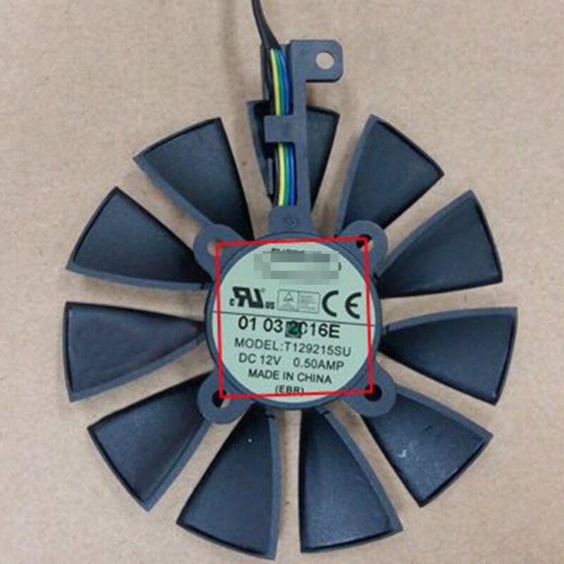 T129215SU for ASUS Raptor GTX970 GTX980 GTX1070 GTX1080 Graphics fan 4pin