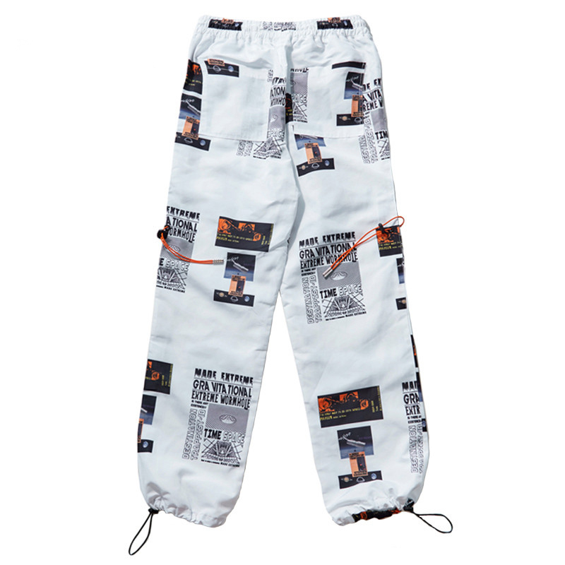 Negro Casual Pista Estrella Hombres Hip Pant Imprimir Streetwear Pantalones Moda Sweatpant Sudor blanco Verano Harajuku 2018 xw7nWw6q