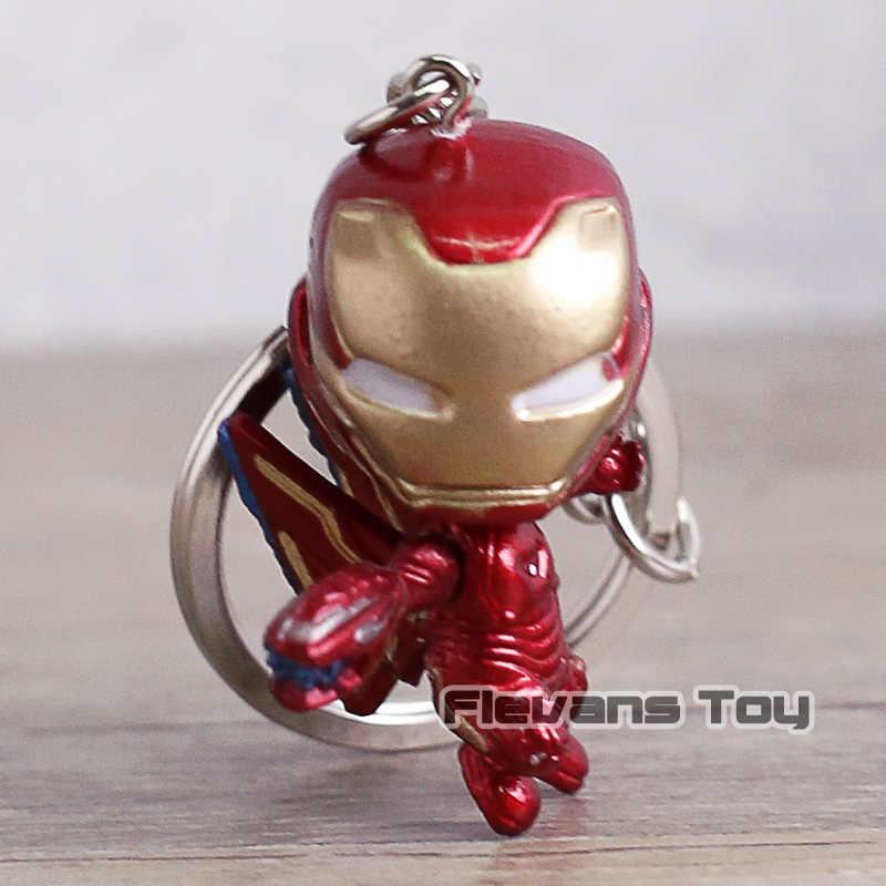 Ferro vingadores Homem de Ferro Aranha Capitão América Marvel Thanos Doutor Estranho Super Heróis Mini Figuras de Ação Brinquedos Chaveiros